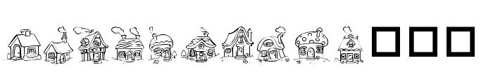 Destiny's Little Houses Font UPPERCASE