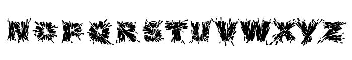 Destroya Font UPPERCASE