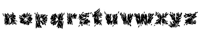 Destroya Font LOWERCASE