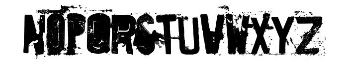 Destroyed License Plate Font UPPERCASE