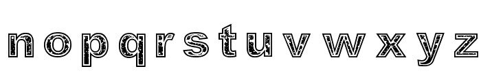 Determined Font LOWERCASE
