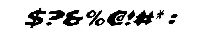 Detonator Condensed Italic Font OTHER CHARS