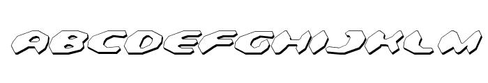 Detonator Shadow Italic Font UPPERCASE