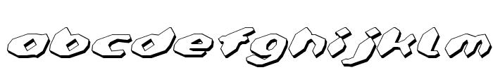 Detonator Shadow Italic Font LOWERCASE