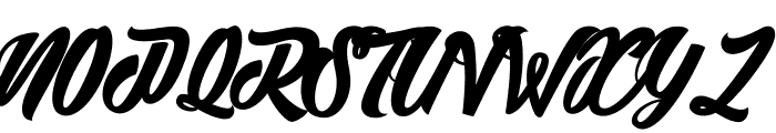 Detrimental_PersonalUseOnly Font UPPERCASE
