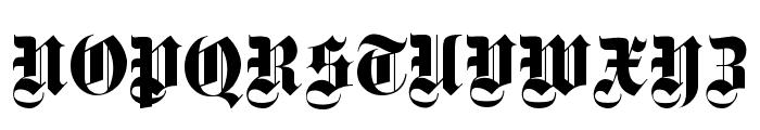 Deutsch Gothic Font UPPERCASE