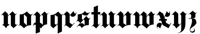 Deutsch Gothic Font LOWERCASE