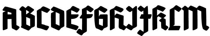 Deutsch-Gotisch Heavy Font UPPERCASE