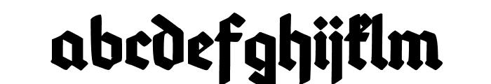 Deutsch-Gotisch Heavy Font LOWERCASE