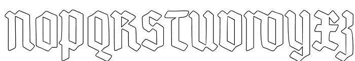 Deutsch-Gotisch Outline Font UPPERCASE