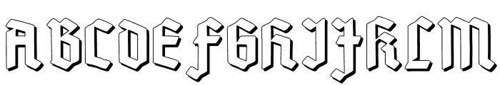 Deutsch-Gotisch Shadow Font UPPERCASE