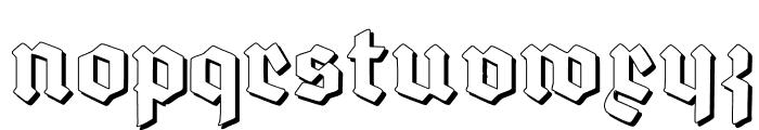 Deutsch-Gotisch Shadow Font LOWERCASE