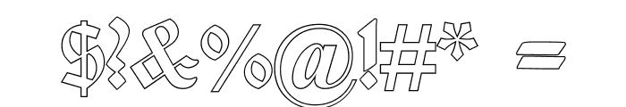 Deutsch-GotischOutline Font OTHER CHARS