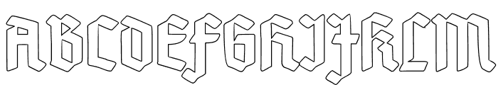 Deutsch-GotischOutline Font UPPERCASE