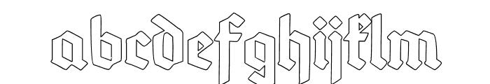 Deutsch-GotischOutline Font LOWERCASE