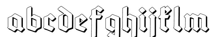 Deutsch-GotischShadow Font LOWERCASE