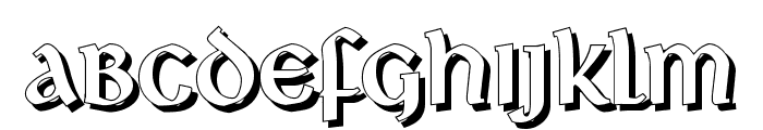 Deutsche Uncialis Shadow Font LOWERCASE