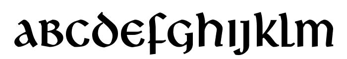 Deutsche Uncialis Font LOWERCASE