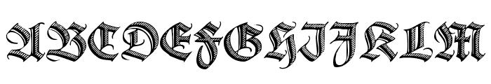 Deutsche Zierschrift Font UPPERCASE