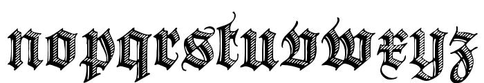 Deutsche Zierschrift Font LOWERCASE