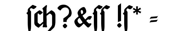 DeutscheDruckschrift Font OTHER CHARS