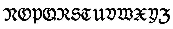 DeutscheDruckschrift Font UPPERCASE