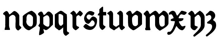 DeutscheDruckschrift Font LOWERCASE