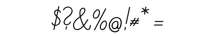 DeutscheNormalschrift-Italic Font OTHER CHARS