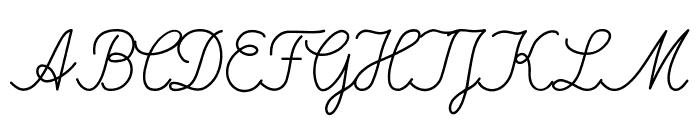 DeutscheNormalschrift-Italic Font UPPERCASE