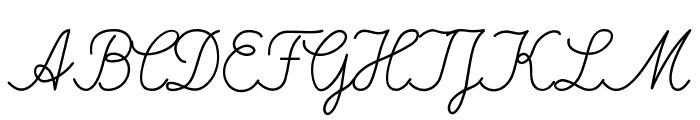 DeutscheNormalschrift Font UPPERCASE
