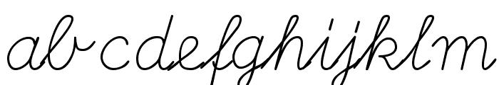 DeutscheNormalschriftOT Font LOWERCASE