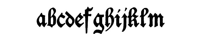 Deutschische Font LOWERCASE