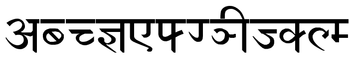 Devanagari New Normal Font UPPERCASE