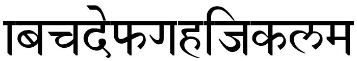 Devanagari New Normal Font LOWERCASE