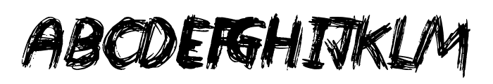 Devastated Font UPPERCASE