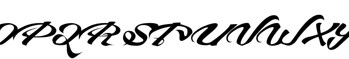 Devil East Free Font UPPERCASE