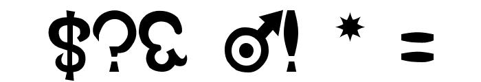 Devil Number Font OTHER CHARS