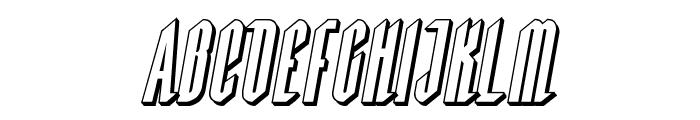 Devil Summoner 3D Italic Font UPPERCASE