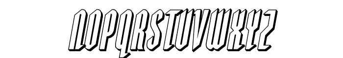 Devil Summoner 3D Italic Font LOWERCASE