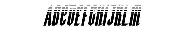 Devil Summoner Halftone Italic Font UPPERCASE