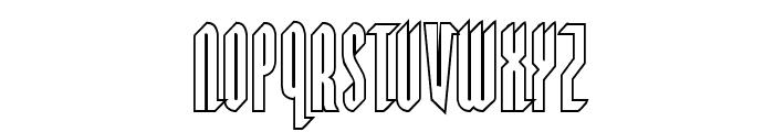 Devil Summoner Outline Font UPPERCASE