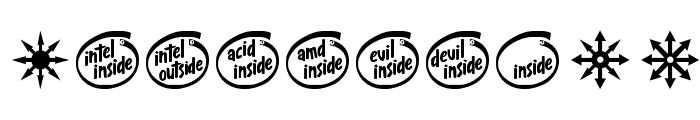 Devil inside Font OTHER CHARS