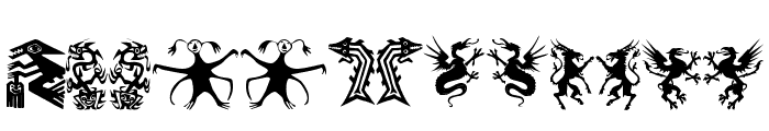 Devils and Dragons Font LOWERCASE