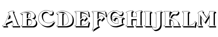 Devinne Swash Shadow Font UPPERCASE