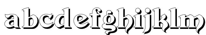 Devinne Swash Shadow Font LOWERCASE