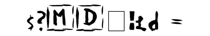 Devotion Font OTHER CHARS
