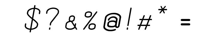 Dewberry Italic Font OTHER CHARS