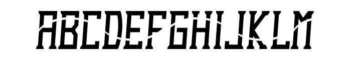 Dezert Italic Dash Font UPPERCASE