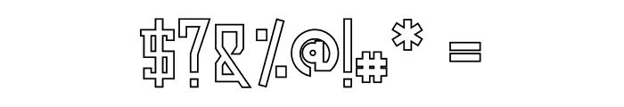 Dezert Outline Font OTHER CHARS