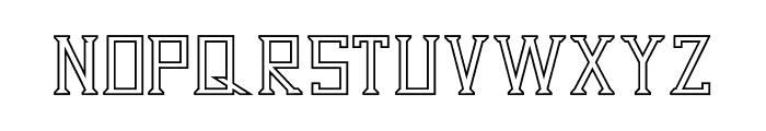 Dezert Outline Font LOWERCASE